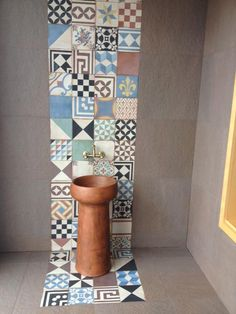 The handmade cement tiles of the Odysseas series are made by traditional technique. Each tile is manufactured individually. All the designs can be made, on request, in any color you wish. Cement Tiles Bathroom, Cement Walls, Room Tiles, Bathroom Wall, Mosaic Tiles, Bathroom Ideas, Mix Match, Outside Stairs, Wall Murals