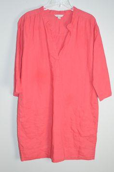 Garnet Hill Linen Tunic Dress with Pockets 12