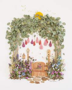 """The Giving Tree"" Flower Print Arte Pop Up, Art Et Nature, Pineapple Flowers, Night Flowers, Pressed Flower Art, Home And Deco, Art Floral, Zinnias, Land Art"