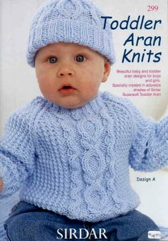 Classy Free Aran Knitting Patterns For Babies And Toddlers Myc Presents Sirdar Patterns Pakvvwh - Baby sweater patterns - Free Baby Sweater Knitting Patterns, Baby Knitting Free, Knit Baby Sweaters, Baby Hat Patterns, Crochet Baby, Knit Crochet, Knitting Projects, Newborn Hats, Babies