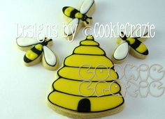 Bee and Beehive Cookie Set-beehive bee summer