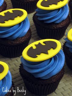Ready for the most awesome cupcakes ever? Check out these Batman themed cupcakes, made by very talented people from around the globe. Batman Cupcakes, Batman Birthday Cakes, Superhero Birthday Party, Birthday Cupcakes, Birthday Ideas, Boys Cupcakes, 5th Birthday, Birthday Parties, Batman Party