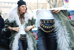 anna dello russo, fashion week,men fashion week A/W chain belt diy,fashion diy Diy Clothes Accessories, Fashion Accessories, Runway Fashion, High Fashion, Men Fashion, Diy Fashion Projects, Diy Projects, Diy Belts, Tommy Ton