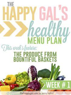 Happy Gal Menu Plan #1