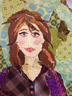 Custom ripped paper collage portraits by ArtzeeDesigns on Etsy (Art & Collectibles, Mixed Media & Collage, collage, whimsical gift, wall art, portraits, caraciture, colorful, personalized gift, whimsical portrait, ripped paper art)