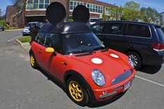 Mickey Mouse Mini Cooper -- For my family this means...... COOPER CRUNCH!!!!!!!! @Marianne Celino Smith