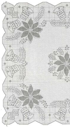 No automatic alt text available. Crochet Patterns Filet, Christmas Crochet Patterns, Holiday Crochet, Crochet Diagram, Crochet Home, Crochet Table Runner, Crochet Tablecloth, Crochet Doilies, Crochet Cross