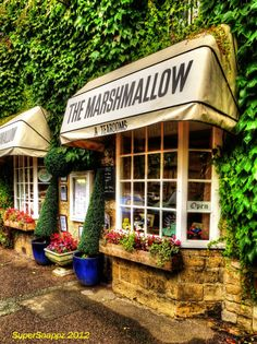 The Marshmallow Tearooms and Restaurant ~ High Street, Moreton-in-March, Gloucestershire, England Happy Tea, Tea Places, England And Scotland, Shop Fronts, Shop Around, On The High Street, Shops, Coffee Shop, Beautiful Places