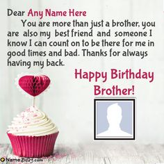 bday wishes for brother & bday wishes ; bday wishes for bestie ; bday wishes for boyfriend ; bday wishes for a friend ; bday wishes for brother ; bday wishes for sister ; bday wishes for bestie funny ; bday wishes for bestie girl Happy Bday Brother Quotes, Birthday Message To Brother, Happy Birthday Bro Wishes, Happy Bday Message, Happy Bday Sister, Anniversary Message For Husband, Happy Brothers Day, Message For Brother, Wishes For Sister