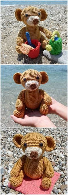 Here we have shared a grand list of free #crochet #amigurumi #patterns that all makes perfect cuddly toys and can also be used as best lovey to your babies!Teddy Bear Crochet Pattern