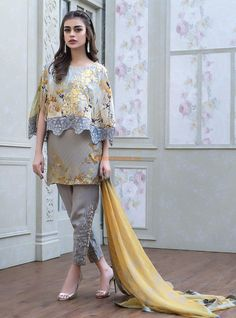MRPK170050 is the Master Replica of Zainab Chottani'sCHRYSANTHEMUM 5B   Full Embroidered Dress (Lawn)  with Chiffon Dupatta  Neckline, Panel, Sleeves Patch and Lace included and Shown in Replica Picture.  Guaranteed Master Replica.