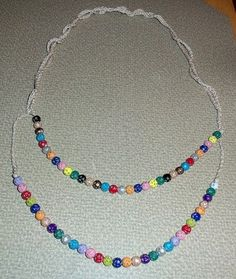Crocheted Multi Color Beaded Double Necklace    http://cgi.ebay.com/ws/eBayISAPI.dll?ViewItem=320898820259#ht_668wt_932
