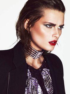 Elena Melnik Fronts S Moda Spring Fashion Spread by Andrew Yee  (80's)