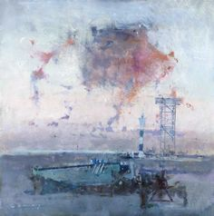 'Evening Study, Dungeness', FRED CUMING RA , Oil on board, 24 x 24 ins