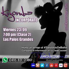 Aprende a Bailar #Kizomba  Incorpórate en la clase 2 este viernes 23/09 en Los Palos Grandes a las 7:00 pm  Invita un amigo al #SanoVicioDeBailar  #Rumbacana #BailaParaDivertirte  #Venezuela #Miranda #LosPalosGrandes
