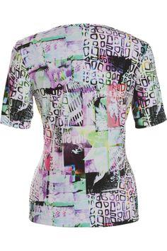 Frank Walder basic t-shirt in het lila