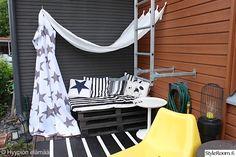 lepotila,lava,sohva,nurkkaus,kuormalavat,terassi,pihakalusteet,ulkokalusteet,Tee itse - DIY