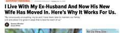 Another perspective from HuffPost Personal. (But may not work for all of us) My Work Schedule, Loveless Marriage, Coparenting, Unhappy Marriage, Moving In Together, Family Units, Real Family, New Wife, After Divorce
