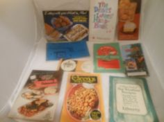 Lot of Vintage recipe booklets, pamphlets,antique recipes,retro advertising booklet,antique advertising,retro advertising,old recipes & advertising from  30's to 70's.    10 booklets and pamphlets from yesterday:    Schwann's Delicious fine foods: VitaSun advertising, order form & recipes from 1983    Lemon Ideas: with a fresh twist by Sunkist Lemons, 1975    The Dessert Lovers Handbook: Bordon Eagle Brand Sweetened Condensed Milk,1973    Gaffney Product, The original C & C Grated Cheese…