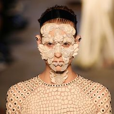 ALINE DUFAULT - Google+ Pat McGrath created the unique masks that were worn by runway models during Givenchy's Spring 2015 show. The masks were worn by each model and covered the entirety of the wearer's face.