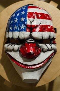inspired Payday 2 Payday the Heist Dallas game mask Cosplay Halloween team band Payday 2 Masks, Payday The Heist, Overwatch, Harley Quinn, Marcasite Jewelry, Silver Jewelry, Gold Jewellery, Silver Earrings, Mask Painting
