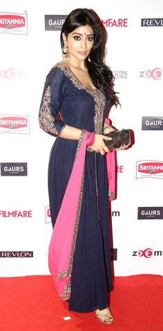 Shriya Saran at Filmfare Awards pre-awards bash. #Bollywood #Fashion #Style #Beauty