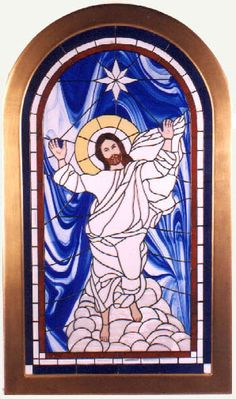 Rev. Alex Shaw offers Holy Spirit Power Feng Shui Real Stained Glass of Christ's Transfiguration for sale. 3'x5' may be built into your Church or place of worship or hang in a window or from the ceiling. Contact  Alex Shaw @   Iconalex@aol.com $19,900.