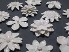 Glazed Ceramic Interior/exterior flower wall by CoastalCeramics