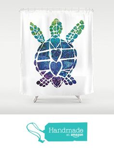 Sea Turtle Love Shower Curtain from AfterMyArt