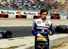 Senna after being hit by Hakinen Sports Car Racing, Race Cars, Formula 1, San Marino Grand Prix, Gerhard Berger, Mick Schumacher, Williams F1, Aesthetic Look, F1 Drivers