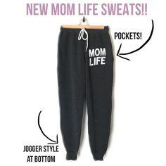 *POCKET* MOM LIFE SWEATS - Charcoal