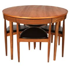 I have a fantastic mid century table already... but I might consider giving it up for this amazing Hans Olsen compact dining set from the 1950s. I would be perfect in my dining nook.