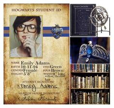 """""""Hogwarts Student ID #3"""" by leah1992 ❤ liked on Polyvore featuring hogwarts, ravenclaw, magic, Students and astronomy"""