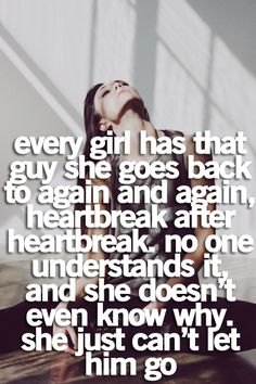 I know why. It's cause that boy was her first true love.