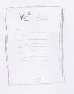 Huisstijl schets