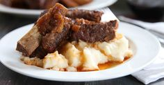 Cooked to fall apart tender perfection & infused with a rich red wine sauce, this Instant Pot recipe for braised short ribs is sure to be a family favorite.