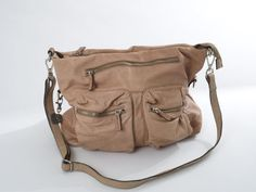 Leather Field Bag, Brown (Convertible) 2