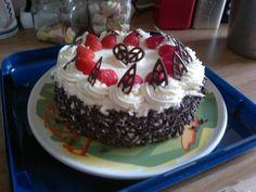 Ik ben nou eenmaal gek op slagroom, aardbeien en chocolade!