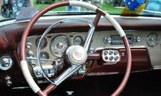 1956 Packard Caribbean - push-button transmission on steering column.