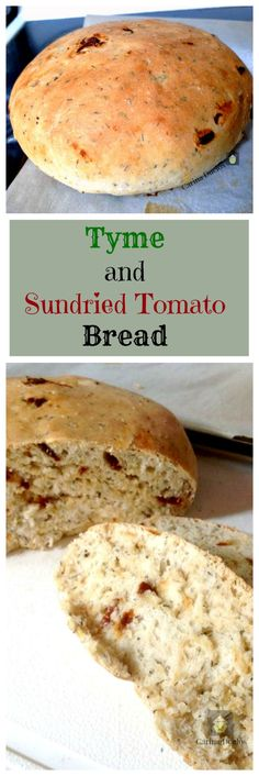 Thyme & Sun dried Tomato Bread.  A lovely bread recipe, great to have on it's own or with a salad, cold cuts, or soup!