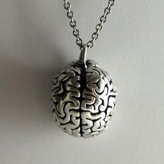 3D Anatomical Brain Solid Bronze Pendant and by heartandskulls, $70.00