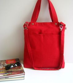 Simply Tote Bag in RED - unisex - van • Handmade Bags & Purses & Totes for Women & Men op DaWanda.com