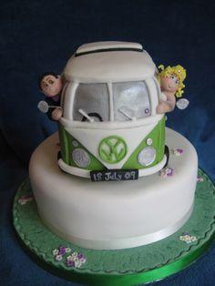 Cake Light Blue Hippie Van