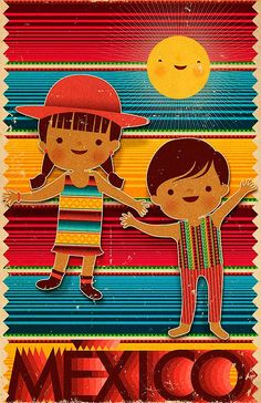 Ilustración. México de Mr. MOORE. - Colectivo Bicicleta | Ilustración, Artes Visuales y Creatividad Grafica