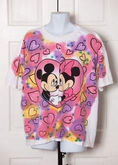 A personal favorite from my Etsy shop https://www.etsy.com/listing/508700523/vintage-90s-mickey-and-minnie-hearts