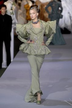 Christian Dior haute Couture Fall 2007 mint green gown.