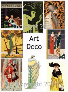 Art Deco Art Images Collage Sheet #107