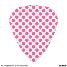 Pink Polka Dots Guitar Pick This design is available on many products! Follow the link and click the 'Available On' tab near the product description! Thanks for looking!  @zazzle #polka #dot #abstract #pattern #design #color #red #yellow #blue #black #white #purple #lilac #green #orange #pink #guitar #pick #music #drum #stick #accessory #men #women #shop #buy #sale #gift #idea