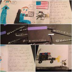 First grader cards #weseeyou