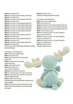 crochet toys and dolls Pinnwand Crochet Gratis, Crochet Amigurumi Free Patterns, Crochet Animal Patterns, Stuffed Animal Patterns, Cute Crochet, Crochet Animals, Crochet Dolls, Knit Crochet, Crochet Projects